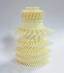 3D Druck Modell, 1/4 einer Turbinenstufe