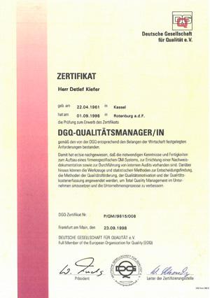 DGO-Qualitätsmanager